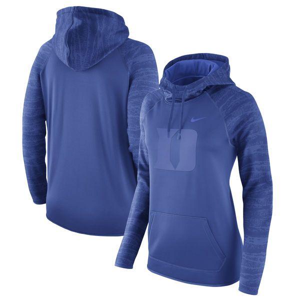 7db6fac4b Nike Duke Blue Devils Women s Royal All-Time Performance Pullover Hoodie