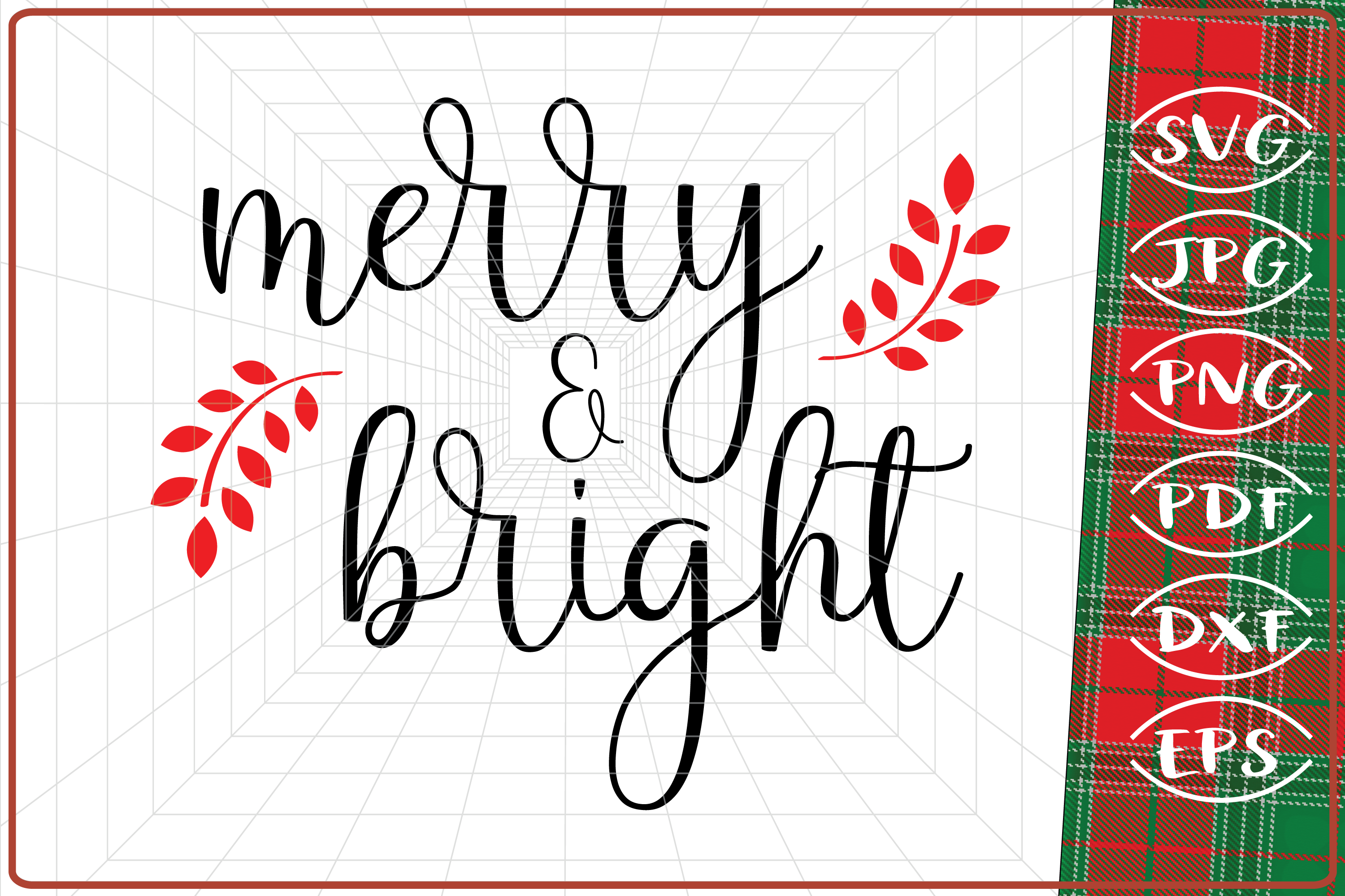 Merry and Bright Svg, Christmas Svg, SVG (Graphic) by Cute
