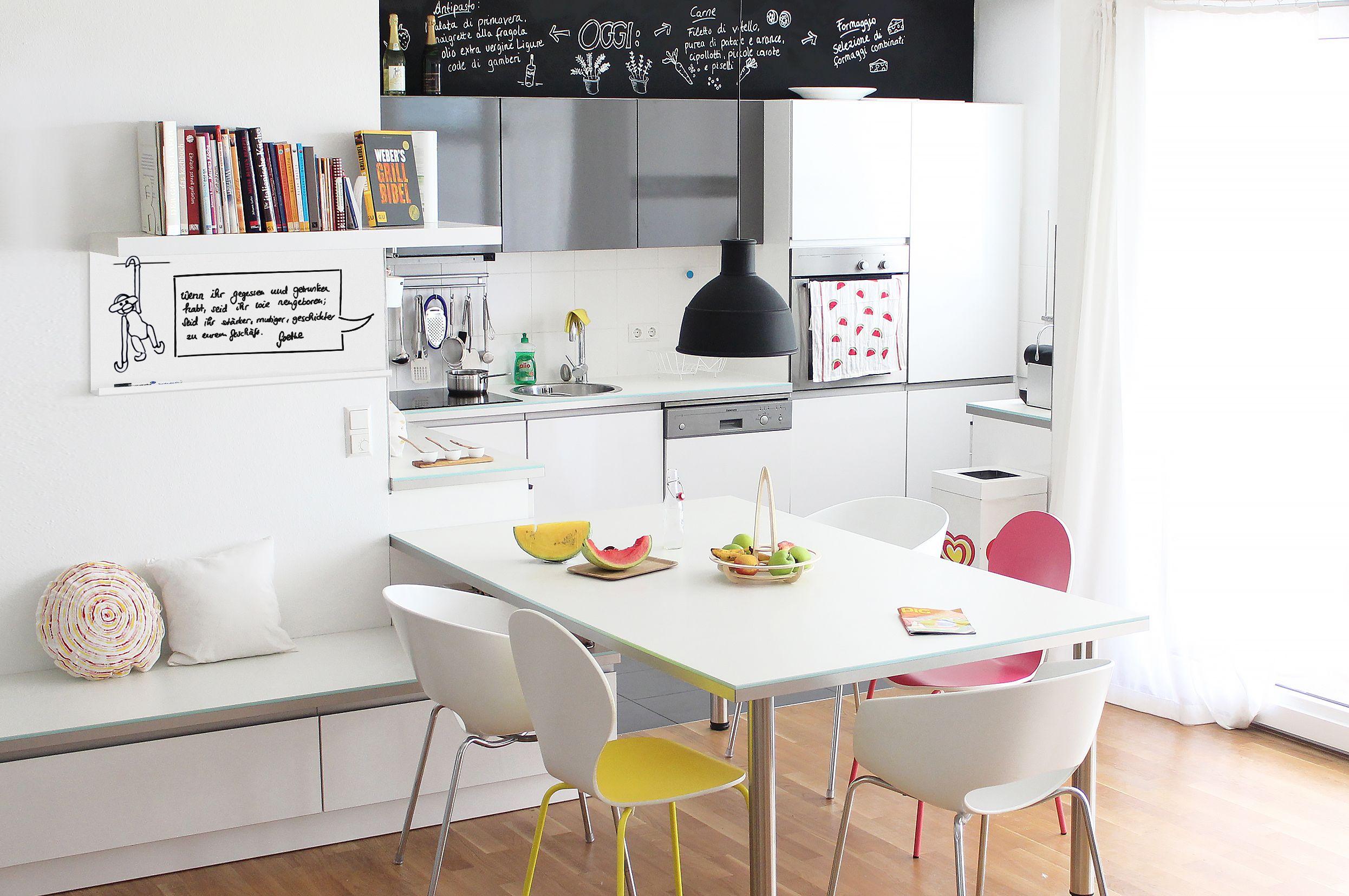 White wall & Whiteboard  Weiße wale, Haus deko, Küchenwand
