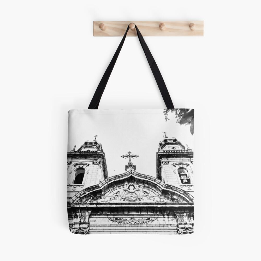 Church Sketch Tote Bag By Gajoromario Bags Tote Bag Medium Bags