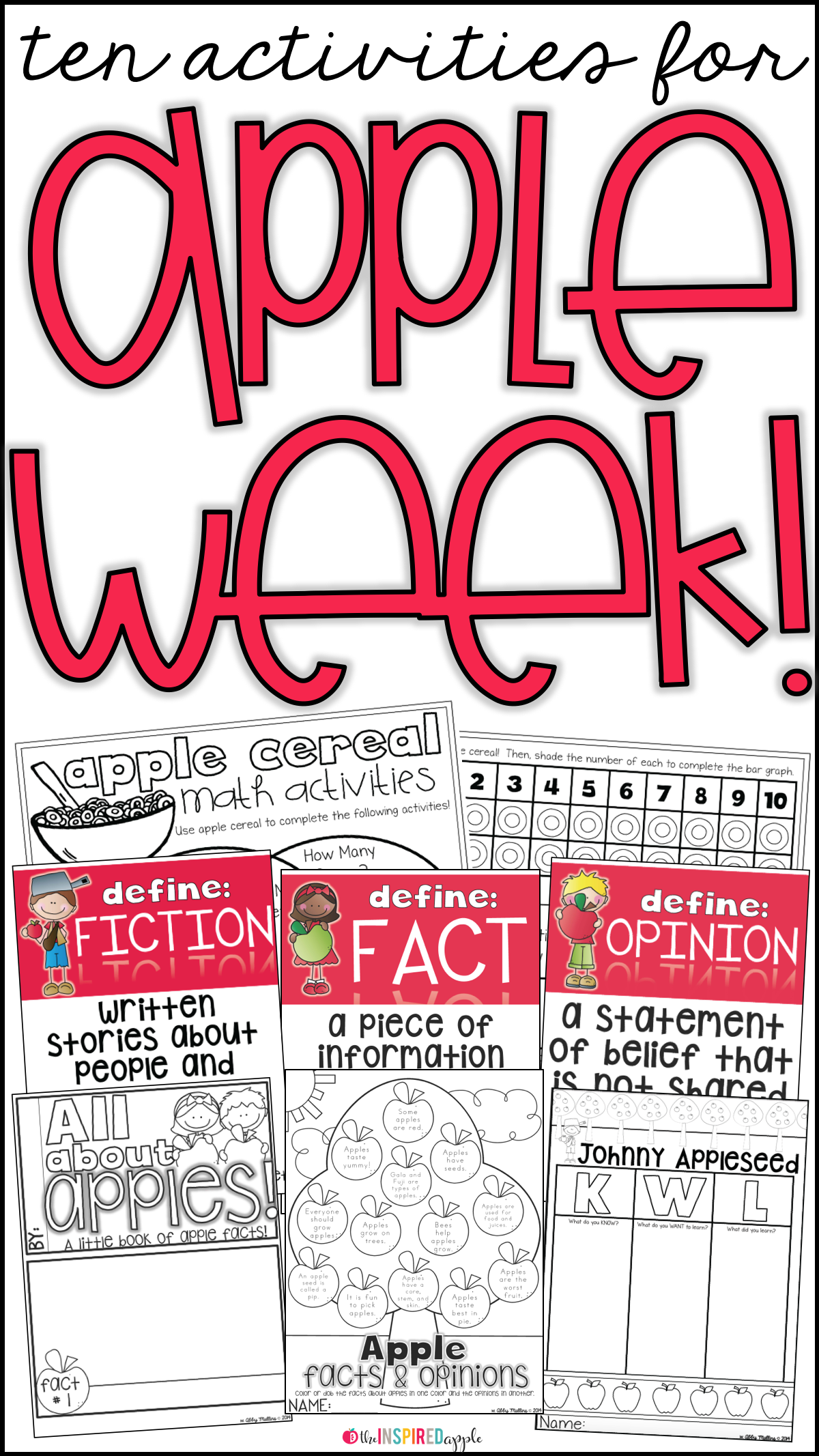 Apple Week Activities Resource Round Up For Kindergarten And First Grade