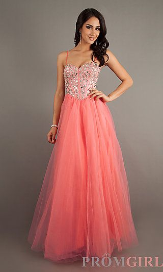 fd6828e565 Lace Up Prom Gown by Dave and Johnny 7707 at PromGirl.com