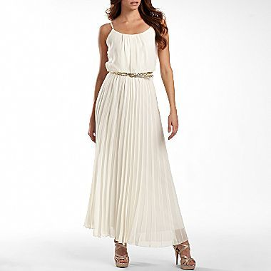 8aab6947aeef Bisou Bisou® Pleated Maxi Dress - jcpenney