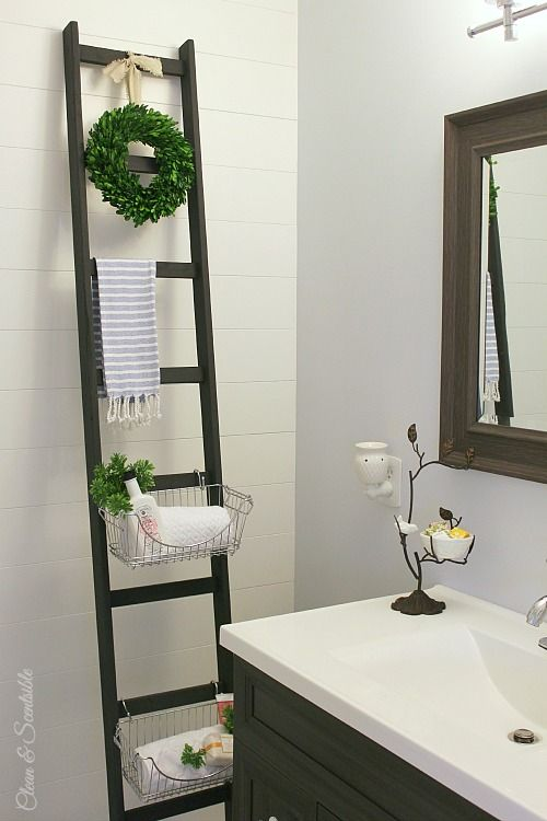 Diy Storage Ladder  Extra Storage Diy Storage And Small Spaces Impressive Bathroom Storage For Small Spaces Review