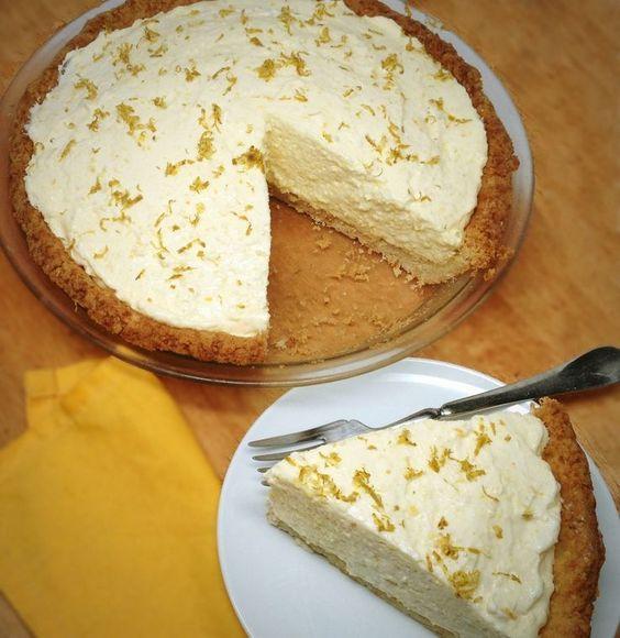 Lemon Chiffon Pie - Low Carb Sugar Free Gluten Free - Preheat to 350˚