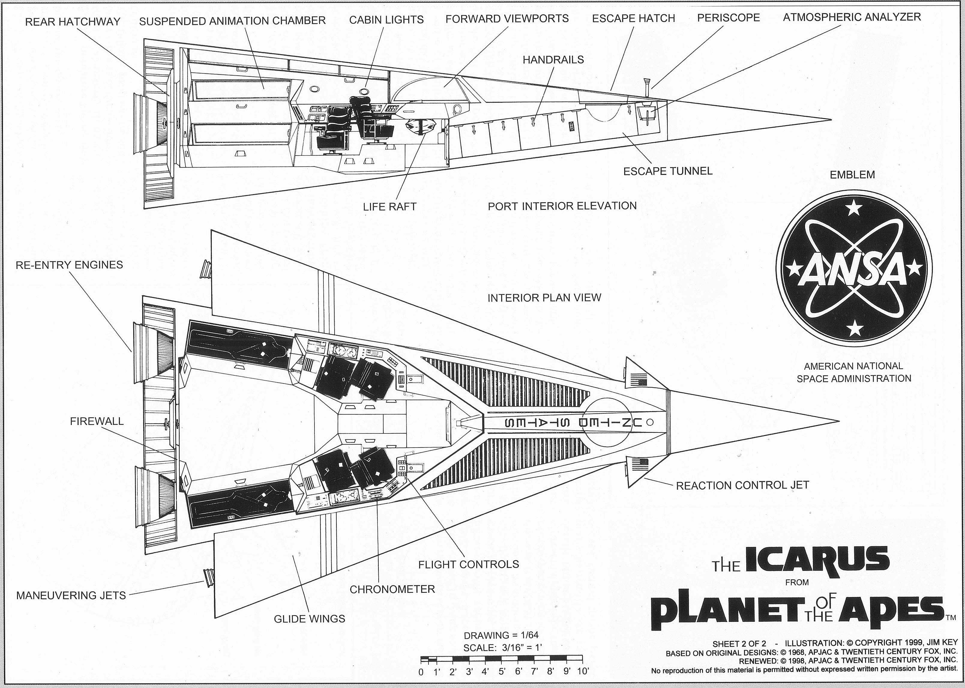 The Icarus blueprints from the Planet of the Apes | Original Planet