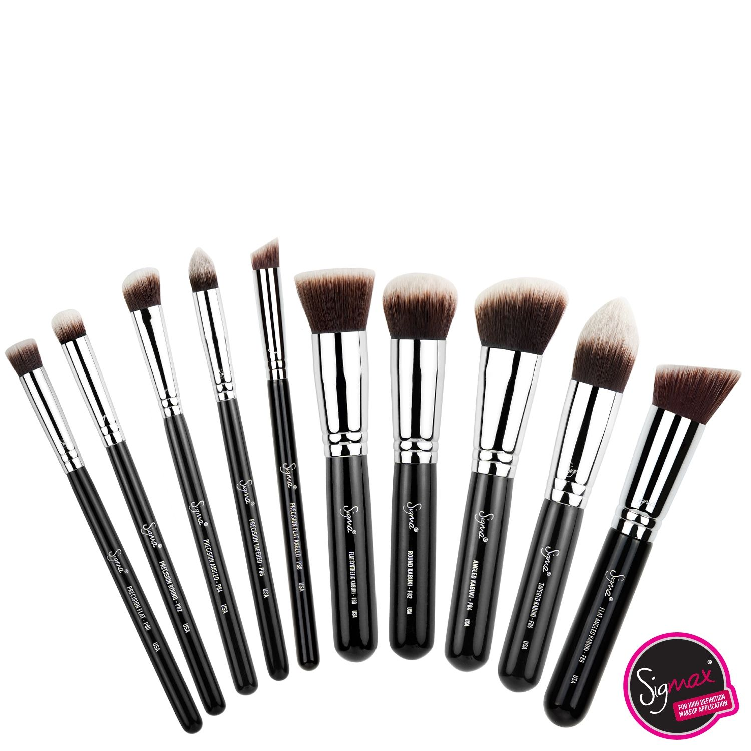 Sigma Beauty New Synthetic Essential Kit 10 Brushes