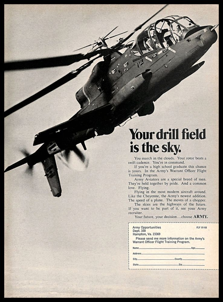 1968 armys warrant officer flight training program