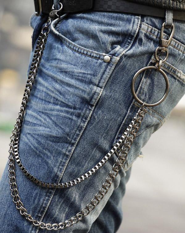 Unisex Key Chain Rock Punk Trousers Key Chains Pant Keychain HipHop Decor RW