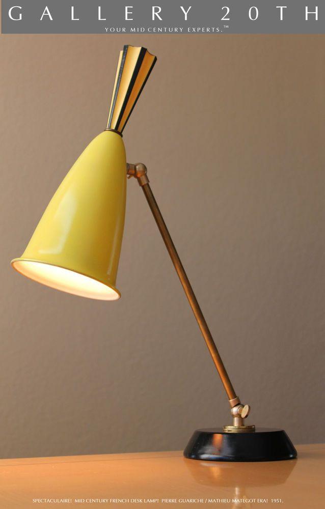 Mid Century Modern Atomic French Desk Lamp Guariche Mategot Era Arteluce Stilux Lamp Table Lamp Desk Lamp
