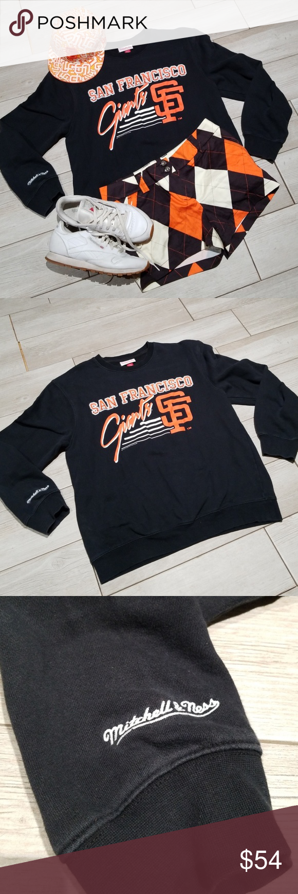 Mitchell Ness Sf Giants Vintage Sweatshirt Sz L Mitchell Ness Nostalgia Co Mlbp Size Large Black Crew N Vintage Sweatshirt Sweatshirts Giant Vintage [ 1740 x 580 Pixel ]