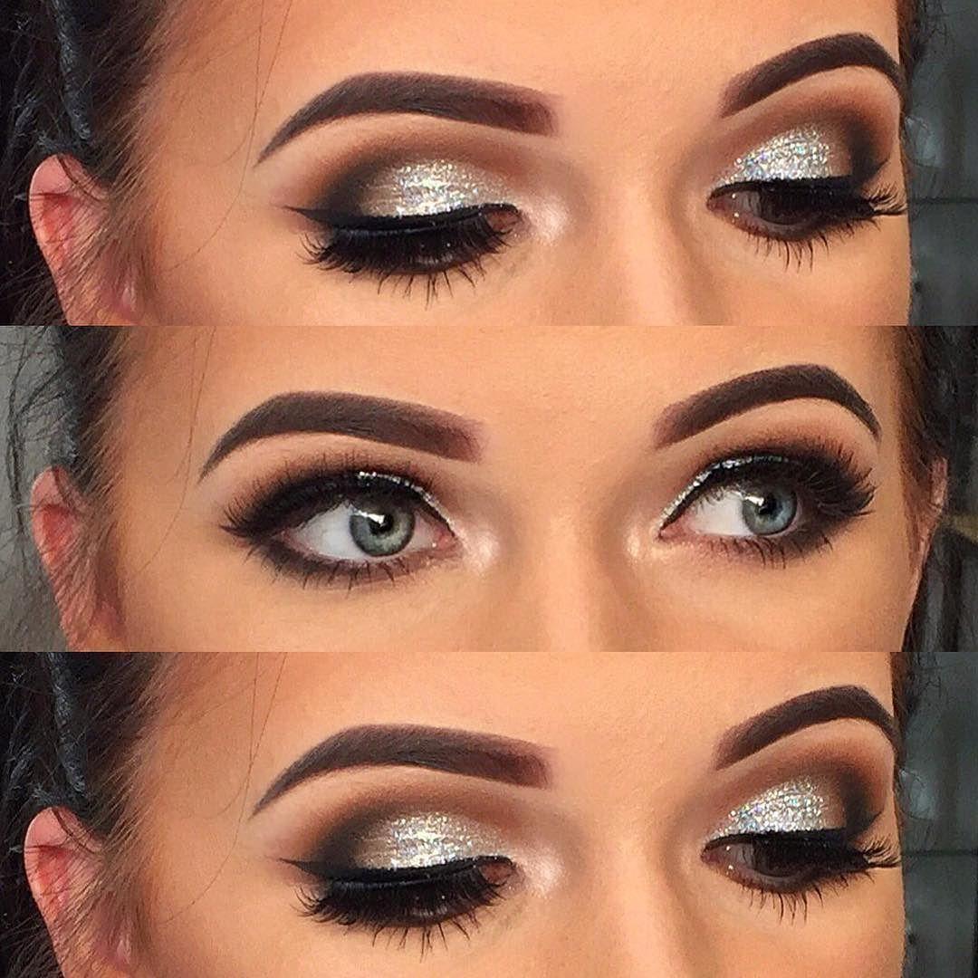 Up close Smokey eye with litcosmetics Silver glitter