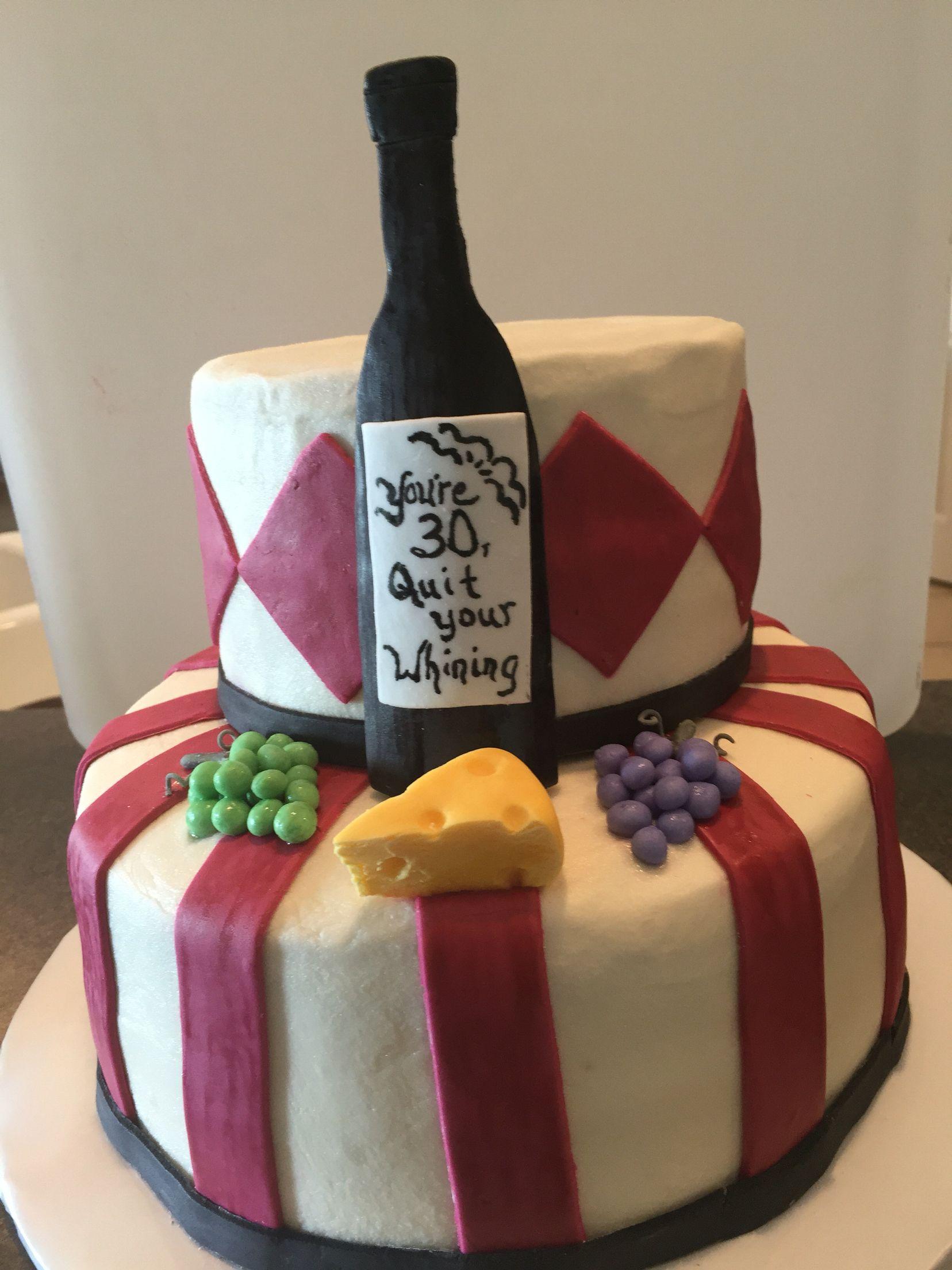 Wine Cake And Cheese 30th Birthday Cheesecake 30