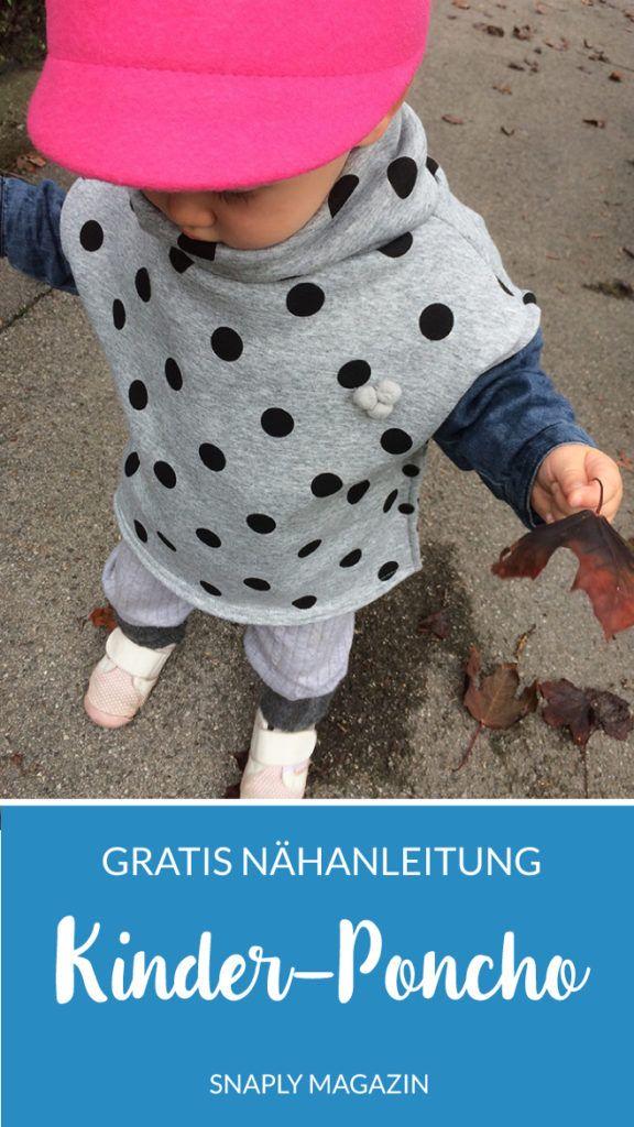 Schneller Kinder-Poncho nähen - gratis Anleitung | Snaply-Magazin