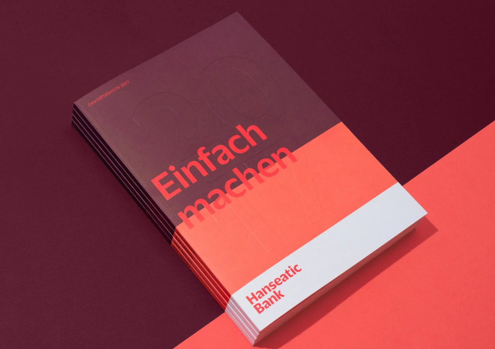 German Branding Agency Eiga Designed This Beautiful Annual Report For Hanseatic Bank Ldquo The Concept For T Report Design Annual Report Design Annual Report