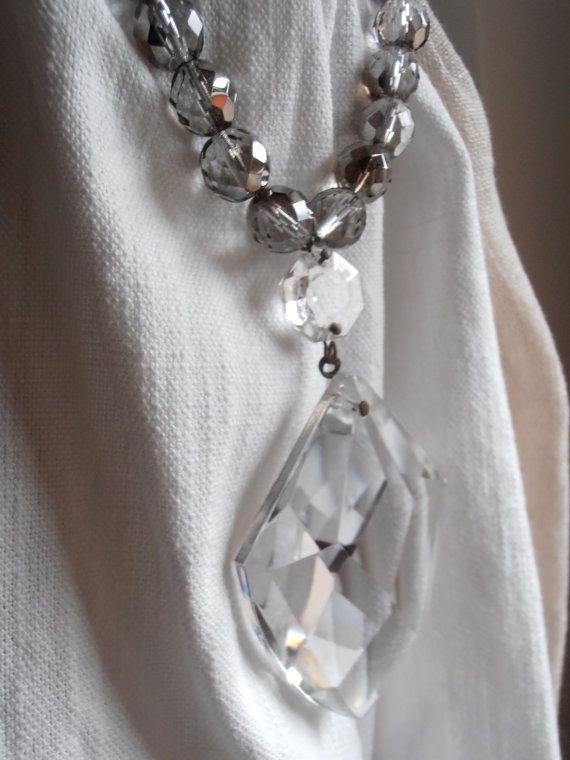 Silver Beads Glass Drop Drapery Holder Tie Back Curtain Holder