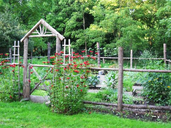 this basic garden fence may appear to be old and rustic but you can build