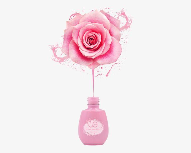 Creative Nail Polish Poster Pink Roses Nail Polish Clipart Nail Polish Pink S Png Transparent Clipart Image And Psd File For Free Download Nail Salon Design Nail Logo Nail Salon Decor