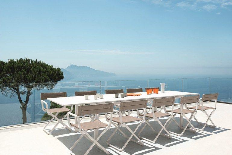 Tavolo allungabile da giardino rettangolare in metallo FLAT by Ethimo