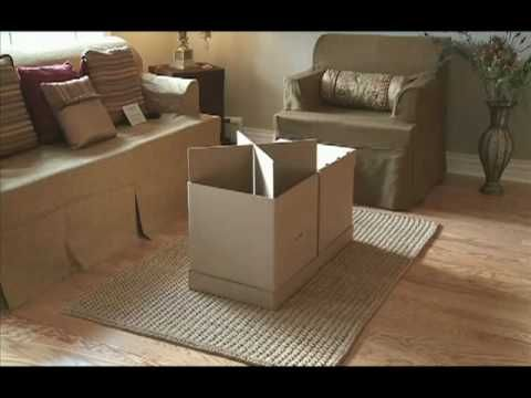 Home Staging Furniture: Stage An Empty House In Minutes With Cardboard  Furniture