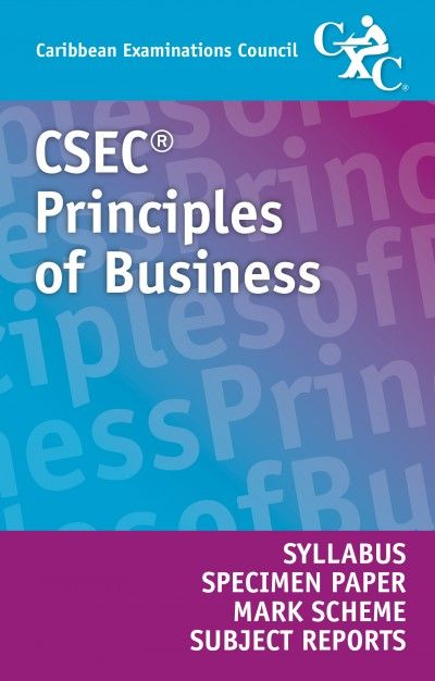 csec principles of business syllabus specimen paper mark scheme