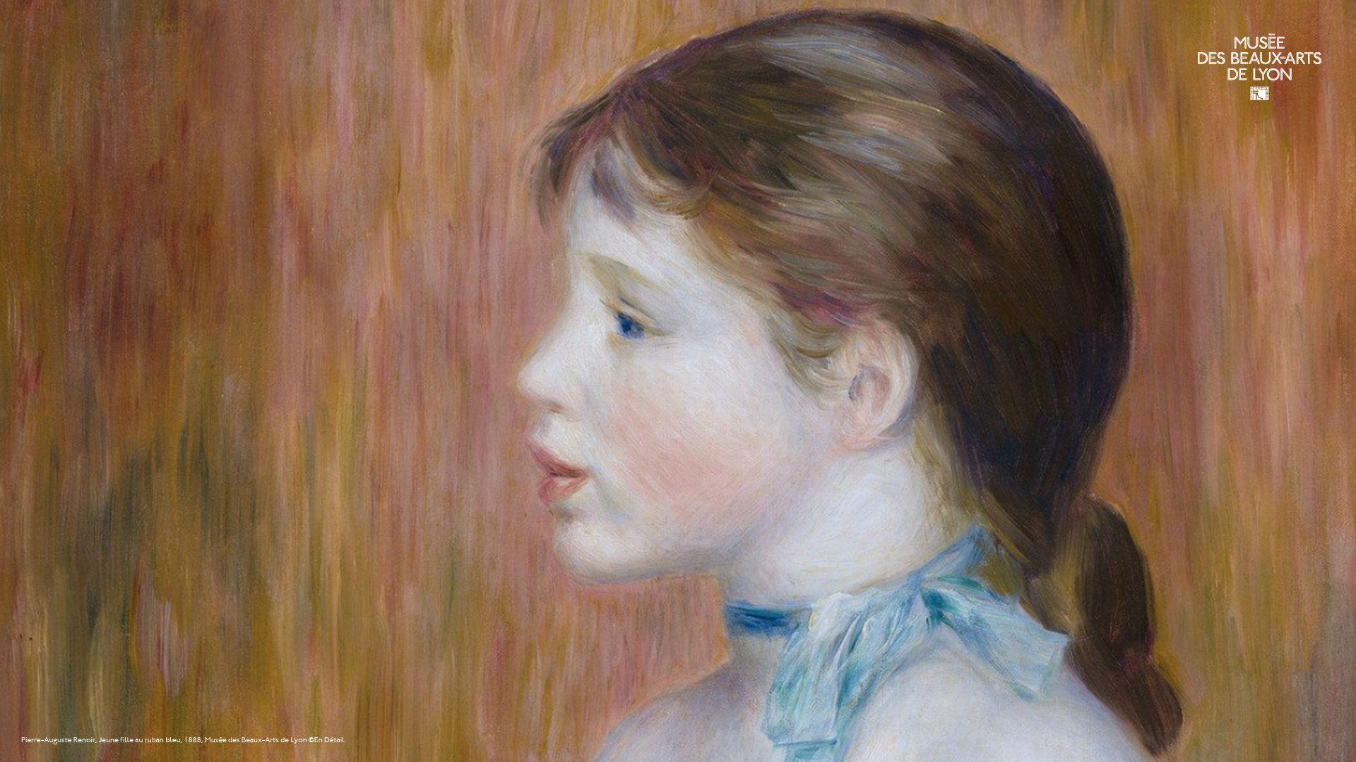 Jeune fille au ruban bleu, PierreAuguste Renoir. 1888