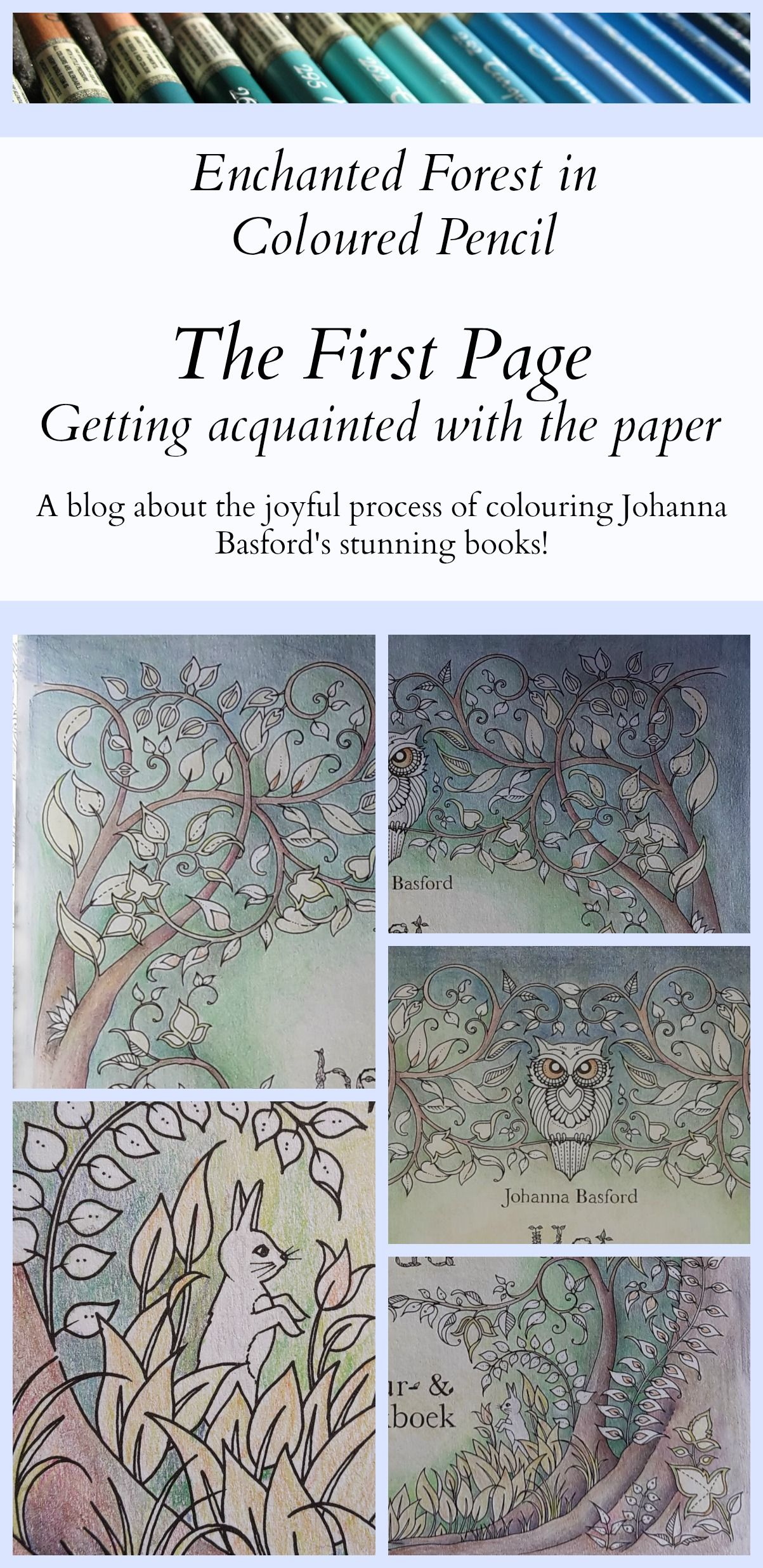 I Recently Started To Colour The First Page In Johanna Basfords Colouring Book Enchanted Forest Coloured During A Trip UK And Had Great Time