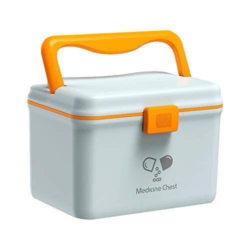 Glosen Medication Lock Box Plastic Storage Box With Child