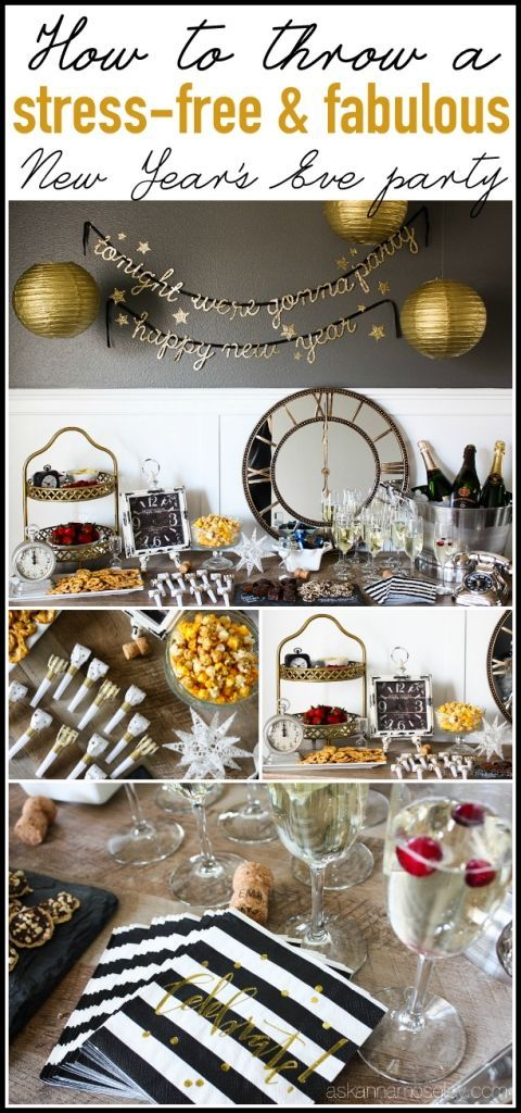 How to Throw a Stress-free, Fabulous New Years Eve Party - Ask Anna