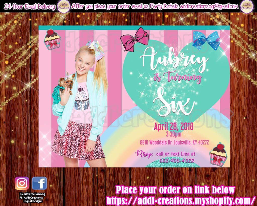 Jojo Siwa Birthday Ideas Invitations Theme