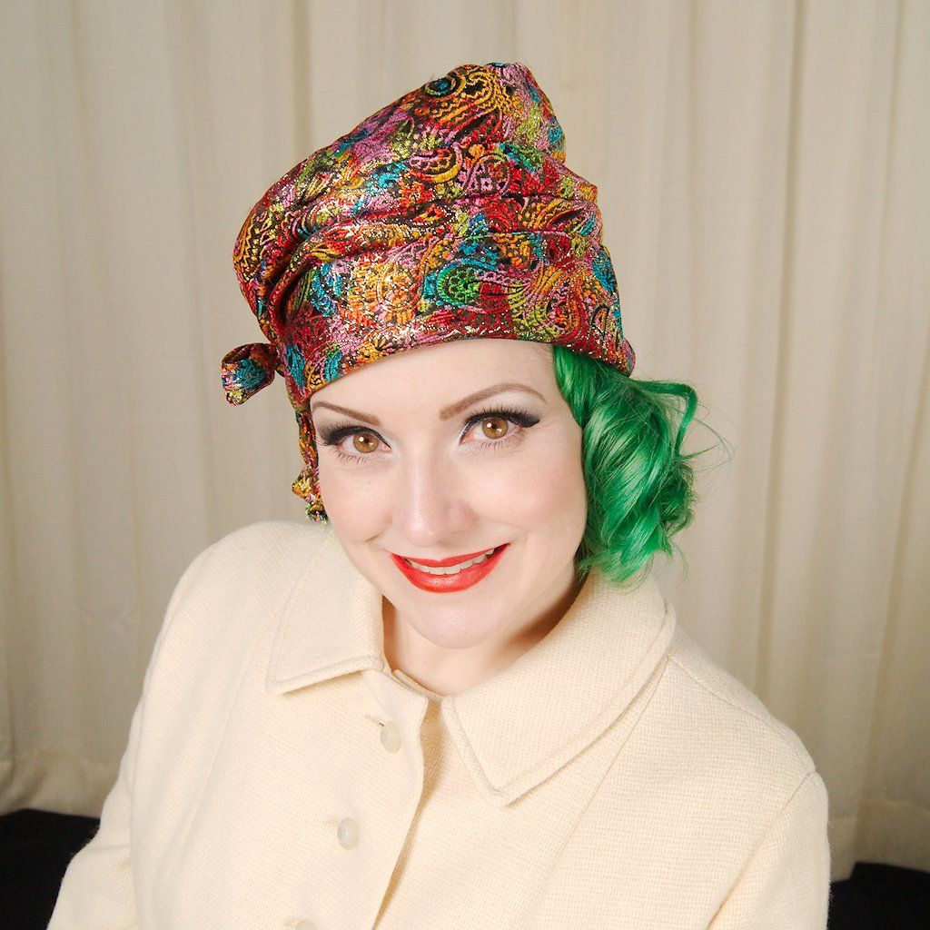 1960s Rainbow Fabric Hat Hats, Fabric, Vintage outfits