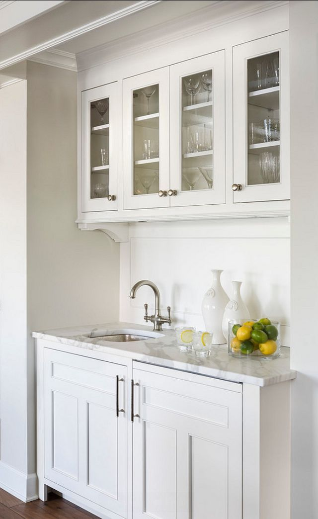 White kitchen with Inset Cabinets (Home Bunch - An ...