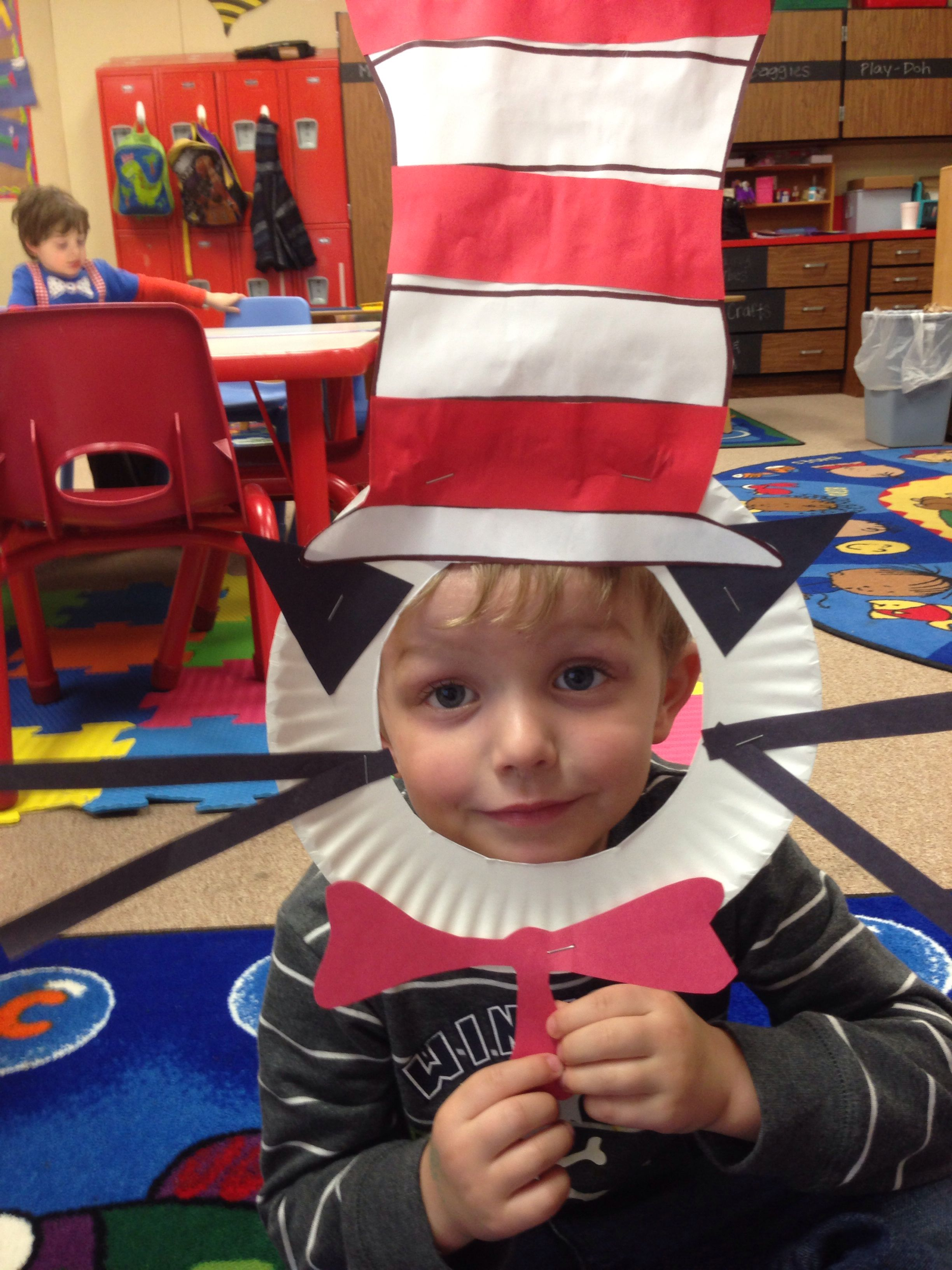 Cat in the hat craft crafts daycamp activities clothes