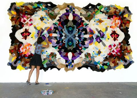 Agustina Woodgate, made from recycled stuffed animals.