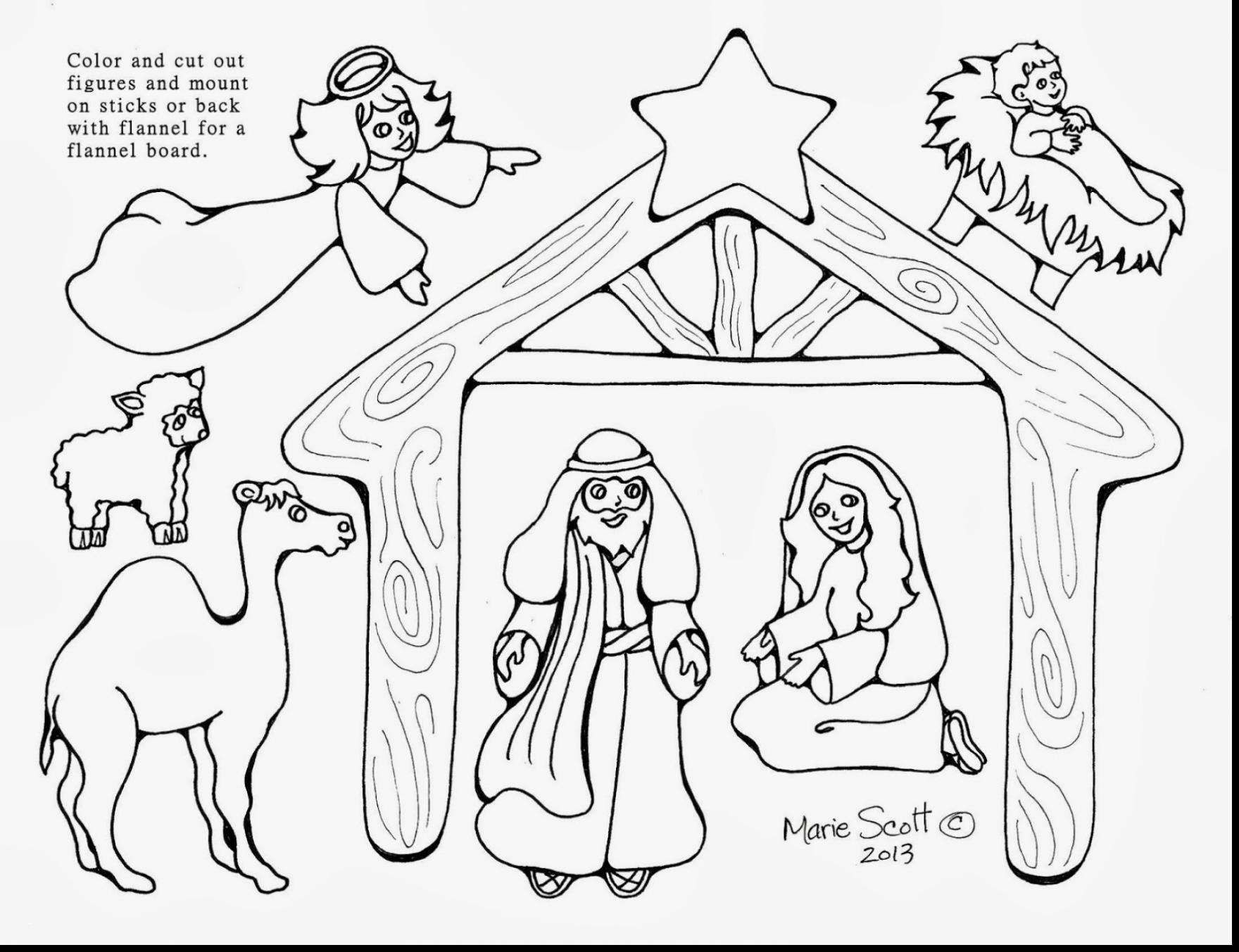 Free Printable Coloring Pages Of Nativity Scene Printable Coloring Page For Kids Jesus Coloring Pages Nativity Coloring Pages Nativity Coloring