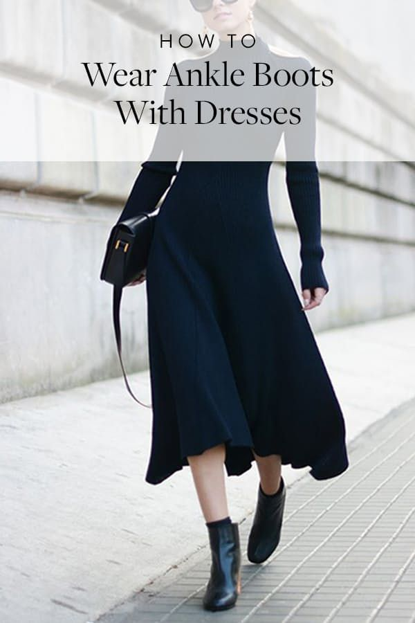 289073e6f30 How to Wear Ankle Boots with Dresses | Booties...fall fashion ...
