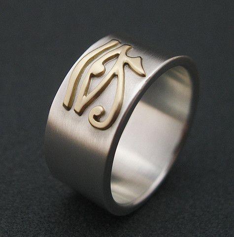 Fresh Gold Eye Of Horus Ring Egyptian Eye Symbol Ring