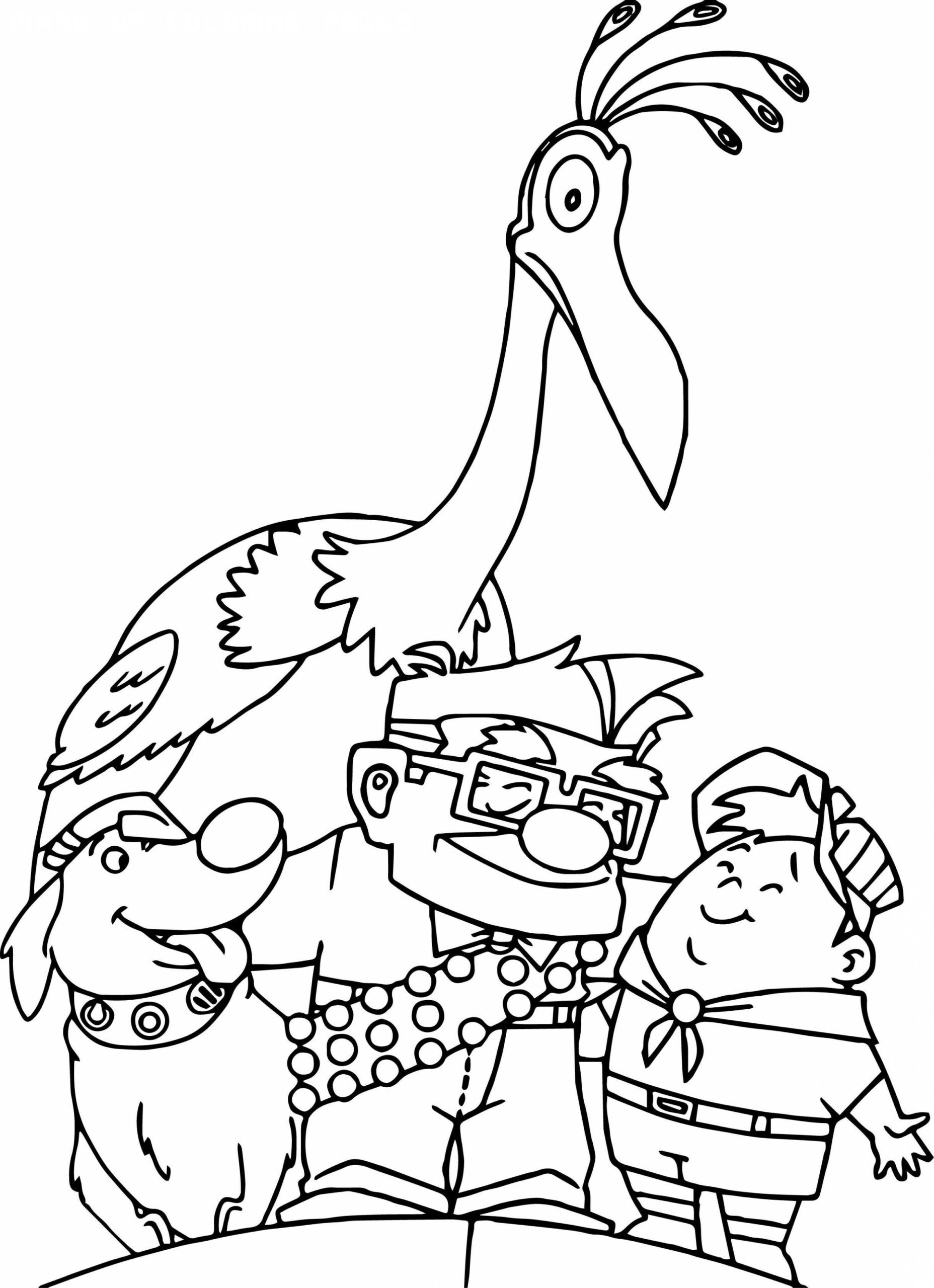 5 Pixar Up Coloring Pages in 5  Disney coloring pages, Free