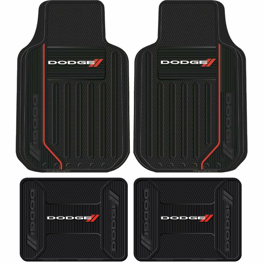 Brand New Elite Racing Stripes Front Back Heavy Duty Rubber Floor Mats For Dodge In 2020 Rubber Floor Mats Rubber Flooring Floor Mats
