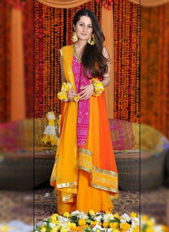 Pakistani Mehndi Dresses Designs 2015 for Bridals | Wedding dresses ...