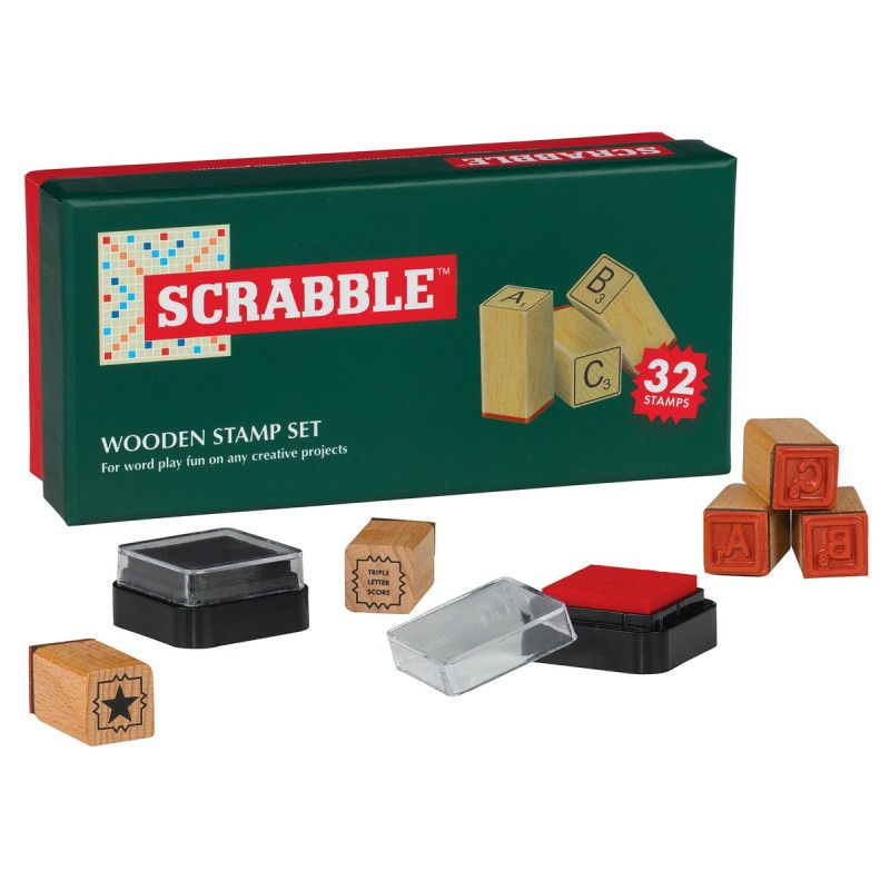 Scrabble wooden stamp set (With images) Wooden stamps