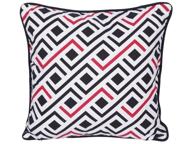 coussin 50x50 cm optik vente de coussin et housse de coussin conforama home sweet home. Black Bedroom Furniture Sets. Home Design Ideas