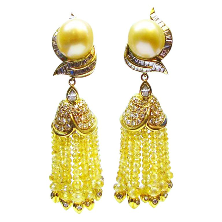 yellow candela andrea collection atlantida ys ss in earrings ice sapphire yg