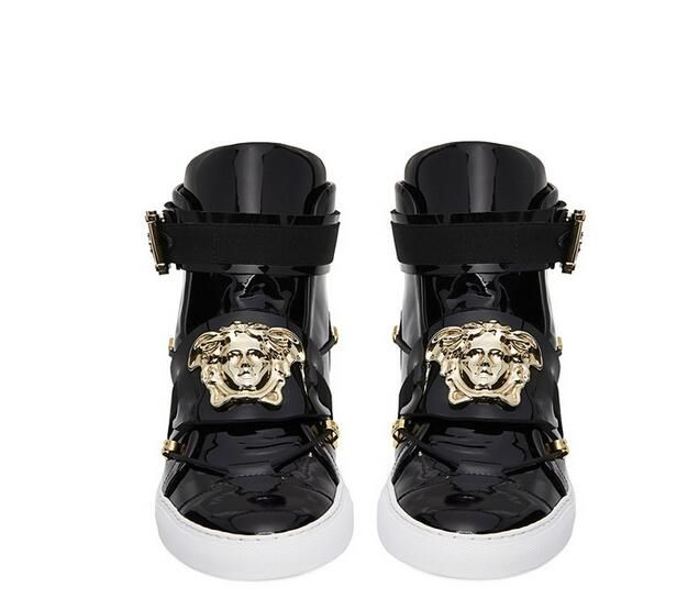 718013ff versace replica high quality AAA+ leather shoes men shoes women ...
