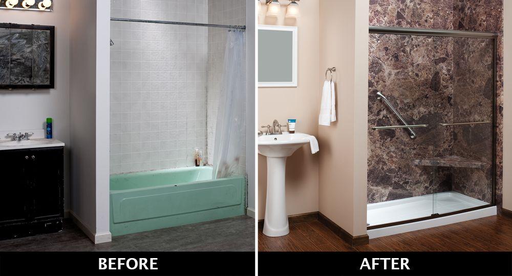 Free Bathroom Remodel Idea Book Bathrooms Remodel Tub To Shower Conversion Shower Conversion
