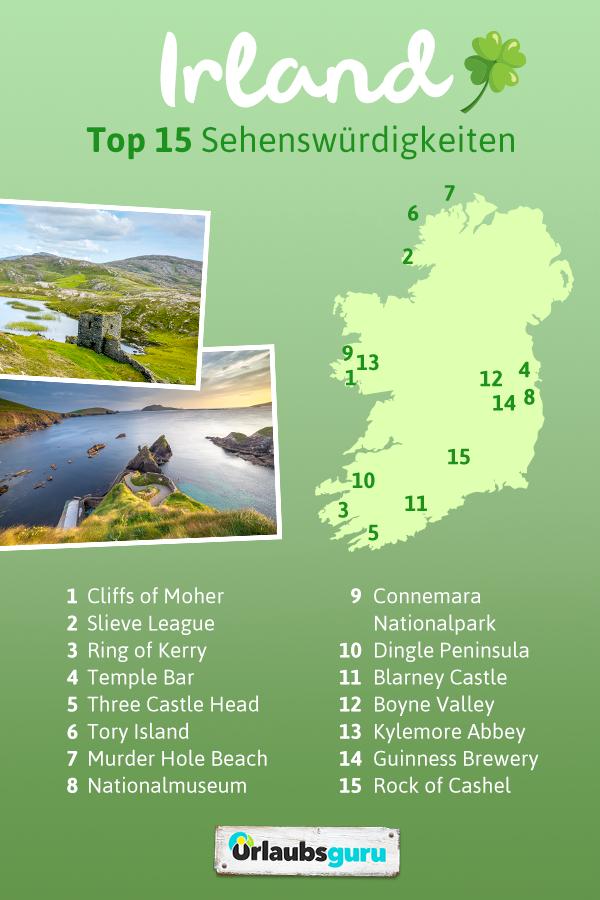 sightseeing irland karte Top 15 Irland Sehenswürdigkeiten 2019   Preise, Zeiten & Karte