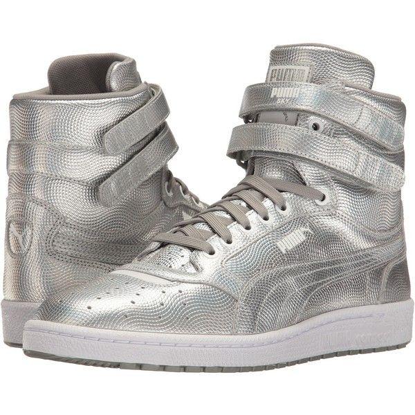 PUMA Sky II Hi Holo (Silver) Men's Shoes ($58) ❤ liked on