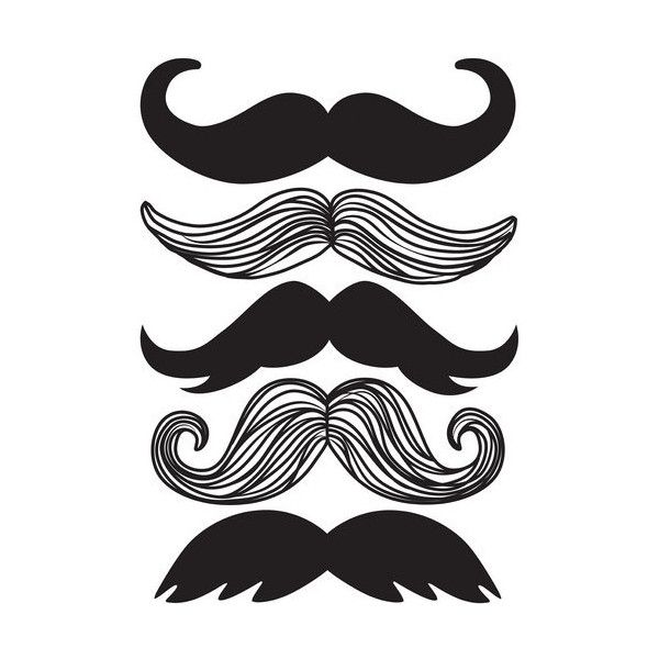 Brewster WPK0751 Mustache Wall Art Kit Home Decor Wall Decals ($16) ❤ Liked  On