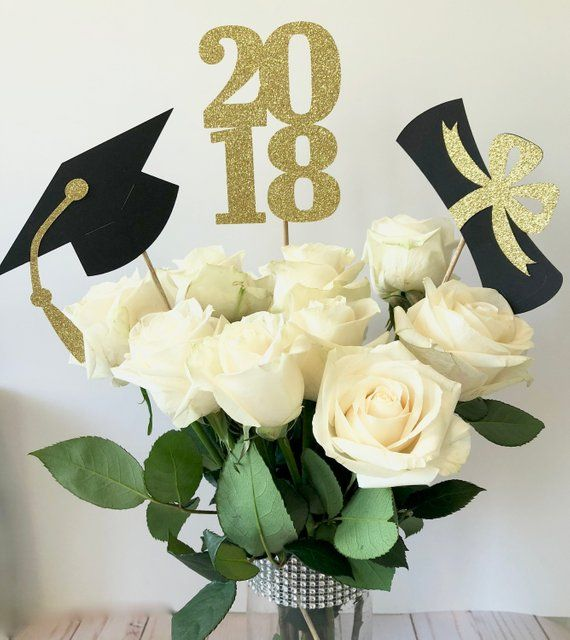 Graduation Party Decorations, Graduation Centerpiece Sticks, Class of 2019, Graduation Party Decor,