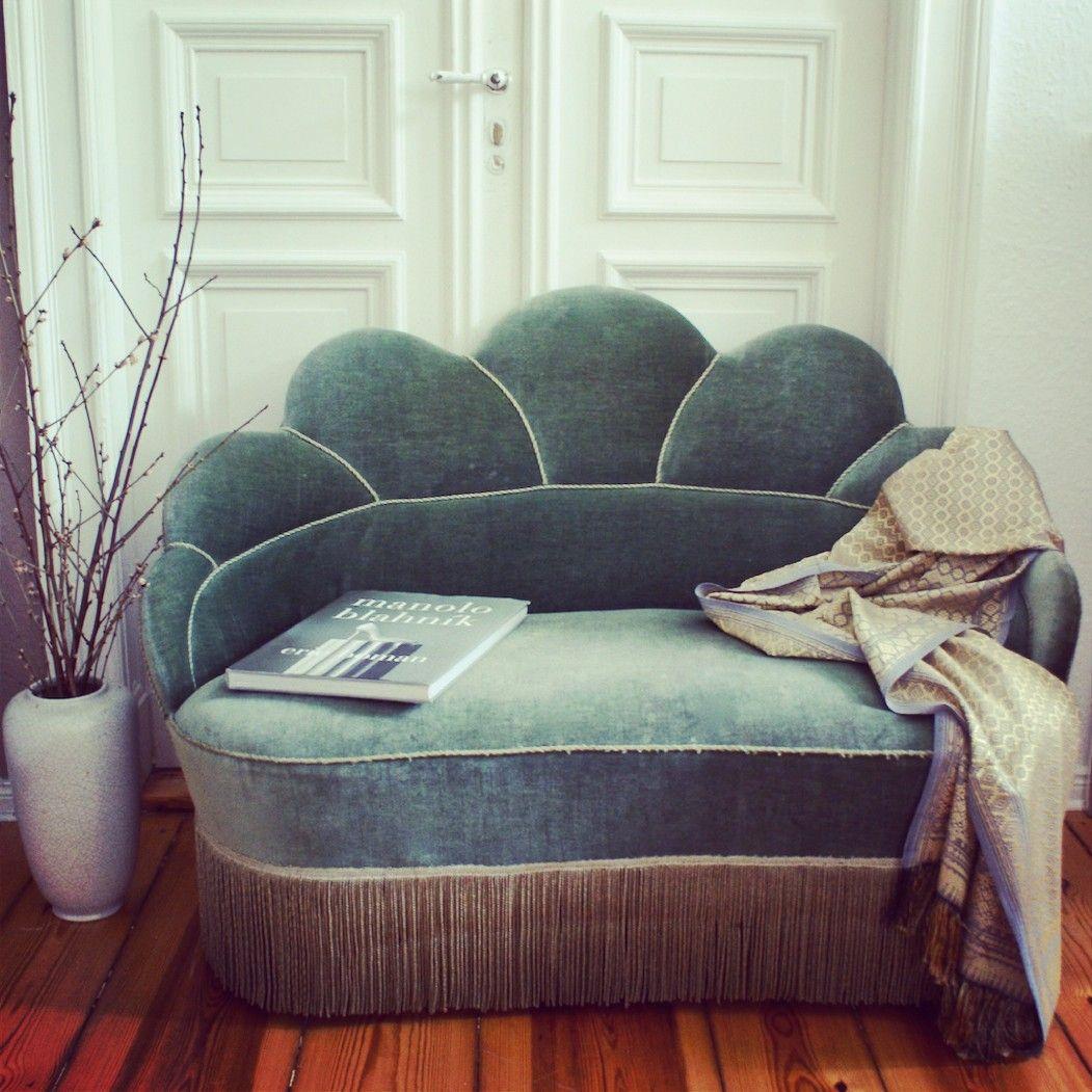 vintage Art Déco Sofa Couch so Elizabeth Taylor Art